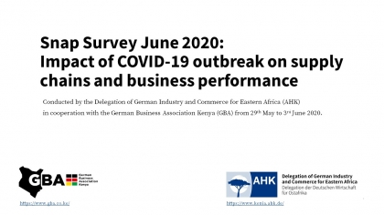 Snap Survey June 2020: Impact of COVID-19 outbreak on supply chains and business performance
